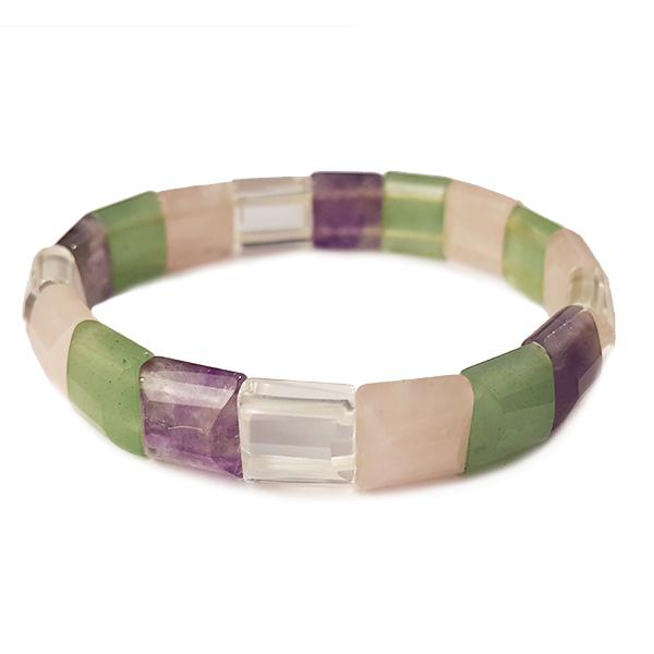amethyst,rose,quartz,pink,purple,green,aventurine,mixed,bracelet,gemstone,jewellery