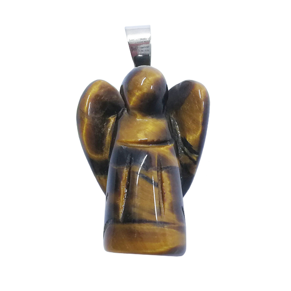 angel,pendant,tigers eye,gold,brown