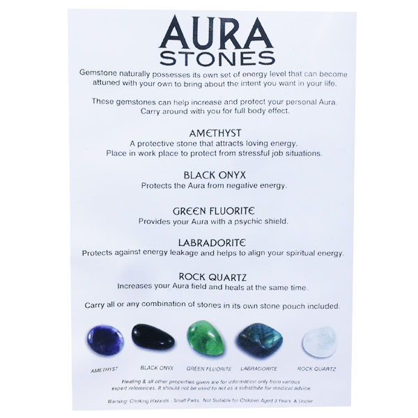 aura,healing,tumbled,stones,pouch,gemstones,polished
