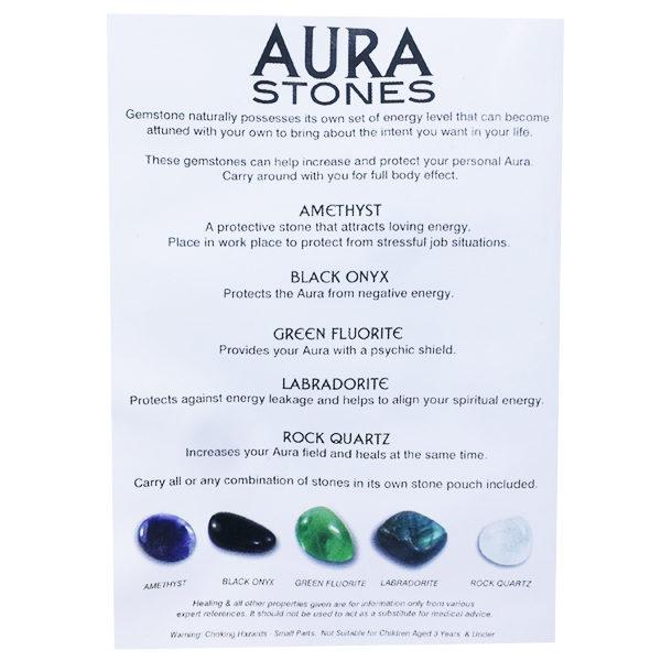 aura,healing,tumbled,stones,pouch,gemstones,polished