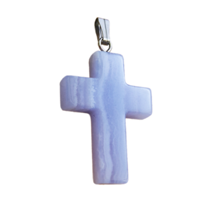 cross,blue lace,agate,pendant