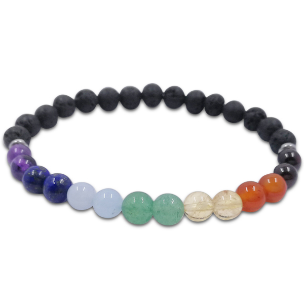 chakra,balance,7 colour,lava,bracelet,gemstone,beads