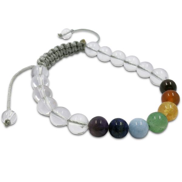chakra,balance,7 colour,quartz,crystal,bracelet,gemstone,beads