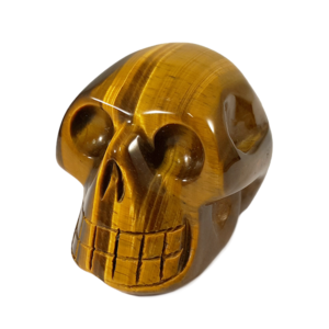 skull,tigers eye,gold,crystal skull