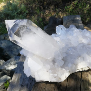 crystal,rock crystal,cluster,natural, aa grade