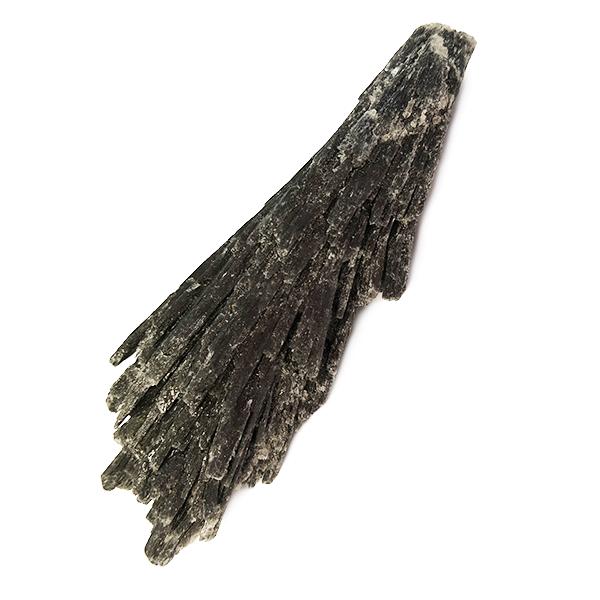 kyanite,black,rough,raw,blade