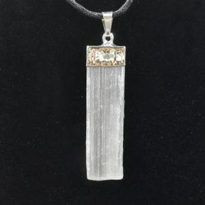selenite,blade,pendant