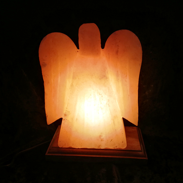 Himalayan,salt,angel,decor,lamp