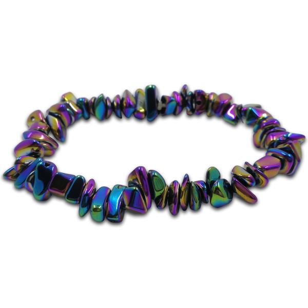 haematite,bracelet,rainbow