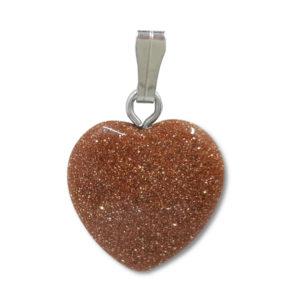 heart,pendant,goldstone