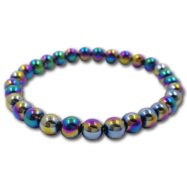 haematite,rainbow,iridescent,bracelet,bead
