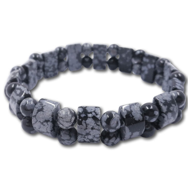 snowflake,obsidian,bracelet