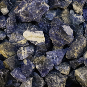sodalite,blue,rough
