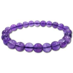 amethyst,round,bead,bracelet,purple