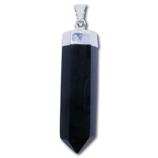 black,obsidian,pendant,point