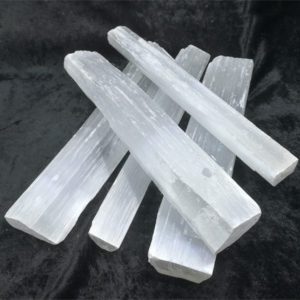 selenite,wand,rough