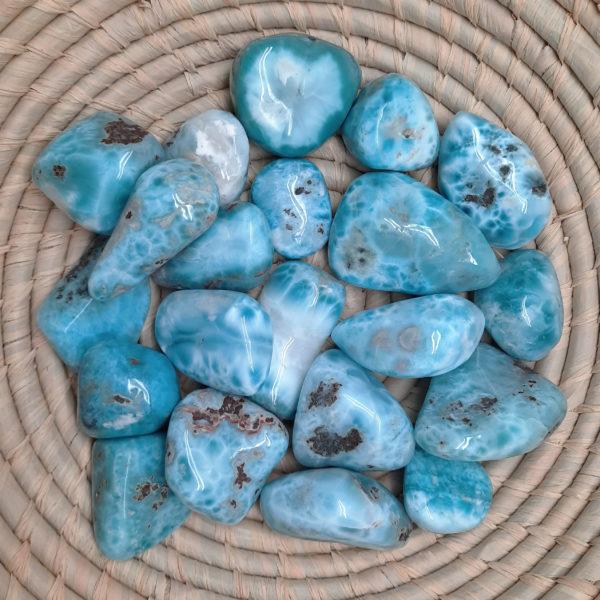 larimar,tumbled,blue