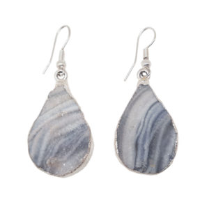 agate,druse,sparkly,earring