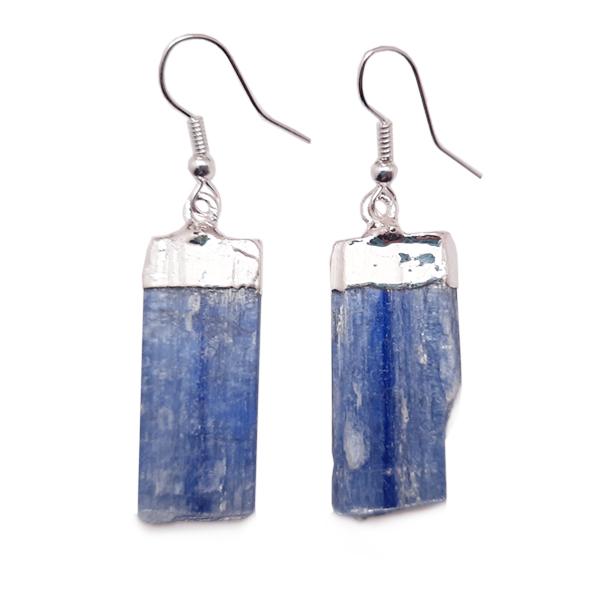 kyanite,blue,blade,earrings,silver