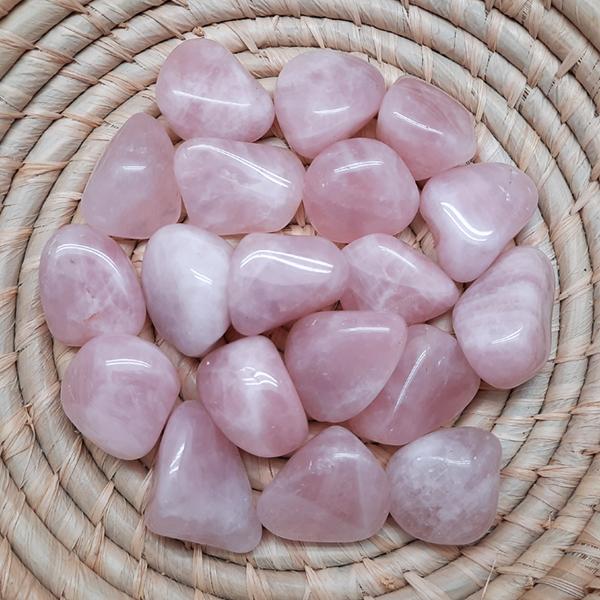 rose,quartz,tumbled